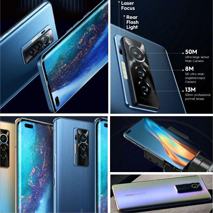 Tecno Phantom X Phablet - Specs: Android 11, 256GB/8GB Memory, 5Cams, Helio G95 Processor, 6.7Inch FHD, 4700mAh Battery, 4G, Dual SIM..