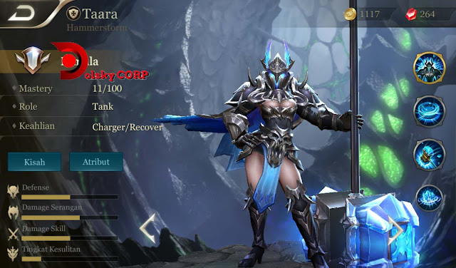 Arena of Valor : Hero Taara ( Hammerstorm ) Attack Tanker Builds Set up Gear