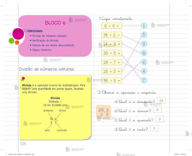 Caderno Do Futuro 3 Ano Matemática