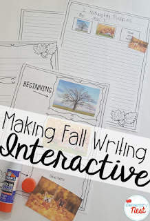 Interactive fall writing- September Activities and primary resources plus three FREEBIES- fun ELA, math, and social studies activities for students during the month of September