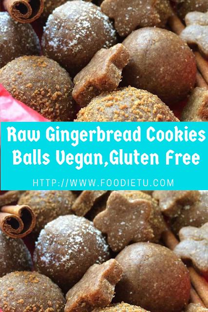 Raw Gingerbread Cookies Balls Vegan,Gluten Free