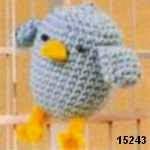 patron gratis pajaro amigurumi, free pattern amigurumi bird