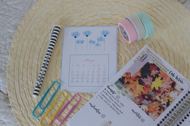 Hola, marzo: calendario del mes descargable