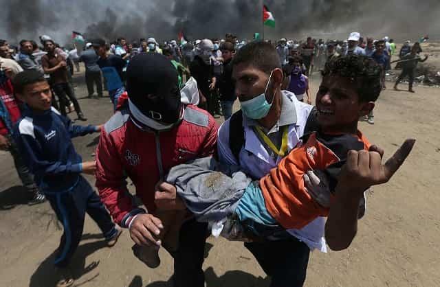 Lunes sangriento en Gaza: Terrible masacre de palestinos a manos de militares israelíes