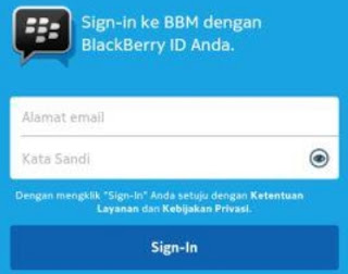 cara ganti password BBM android