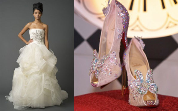 new product 04e22 6232c Christian Louboutin Unveiling Cinderella Wedding Shoes ...