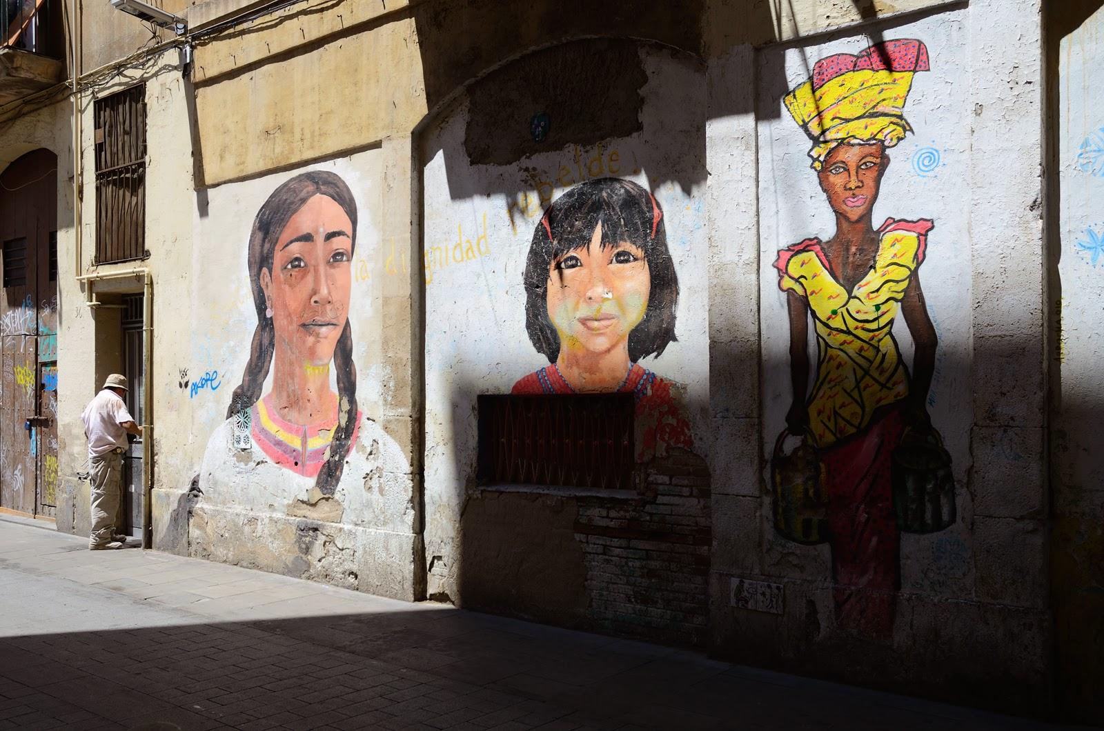 Ethnic mural in Barcelona
