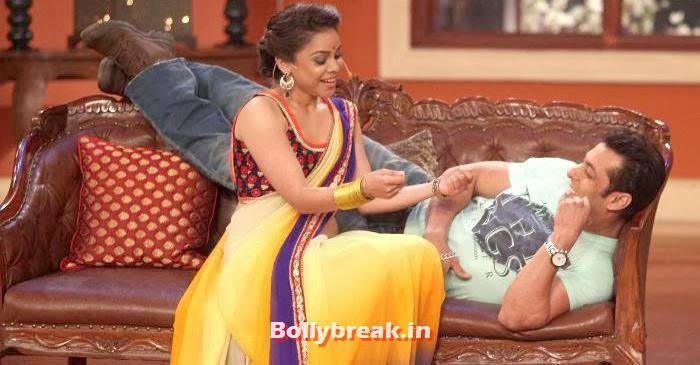 Sumona Chakravarti, Salman Khan, Sumona Chakravarti Comedy Nights with Kapil Pics