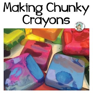 Wait!  Don't throw out those old crayons!  I'll show you how to melt them in the oven to make chunky crayons for kids that are perfect for texture rubbings! See steps to upcycle crayons into cheap art supplies perfect for adding texture your next art project.