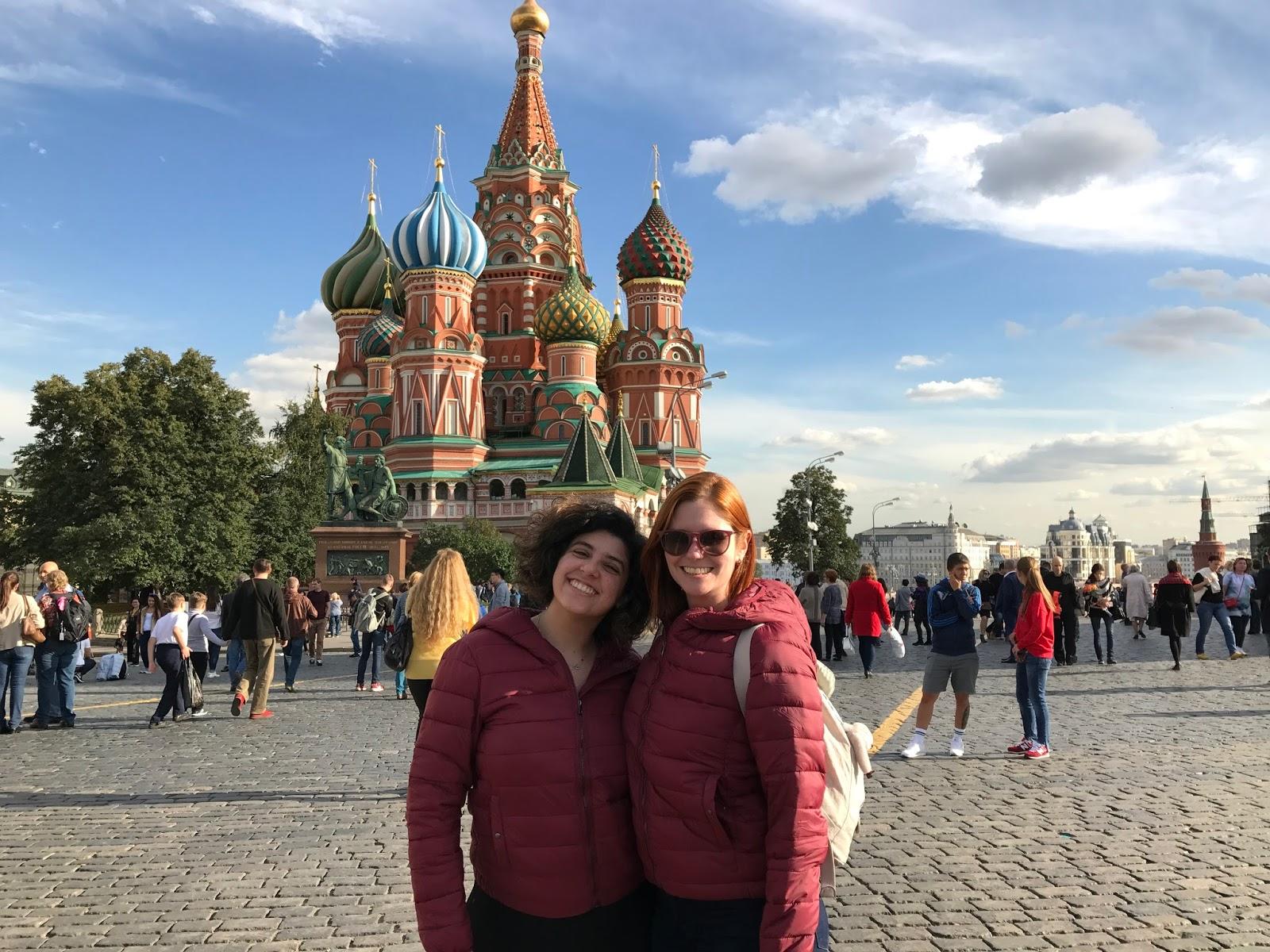 Lia e eu na Praça Vermelha - Moscou