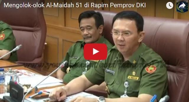 VIDEO: Di Rapat Pimpinan Pemprov DKI, Ahok Jadikan Al Maidah 51 Sebagai Bahan Olok-Olok