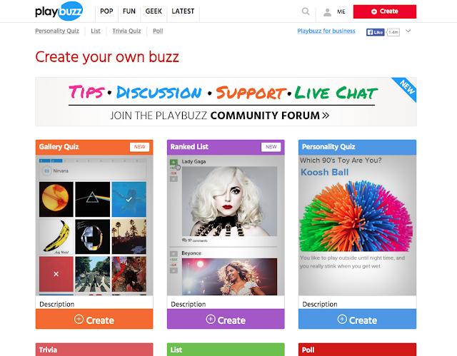 Playbuzz Create Your Own Buzz