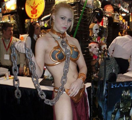 princess leia slave girls cosplay