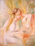 Young Girls at the Piano by Pierre-Auguste Renoir - Genre Paintings from Hermitage Museum