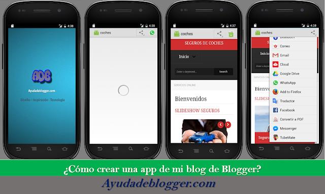 ¿Cómo crear una app de mi blog de Blogger?