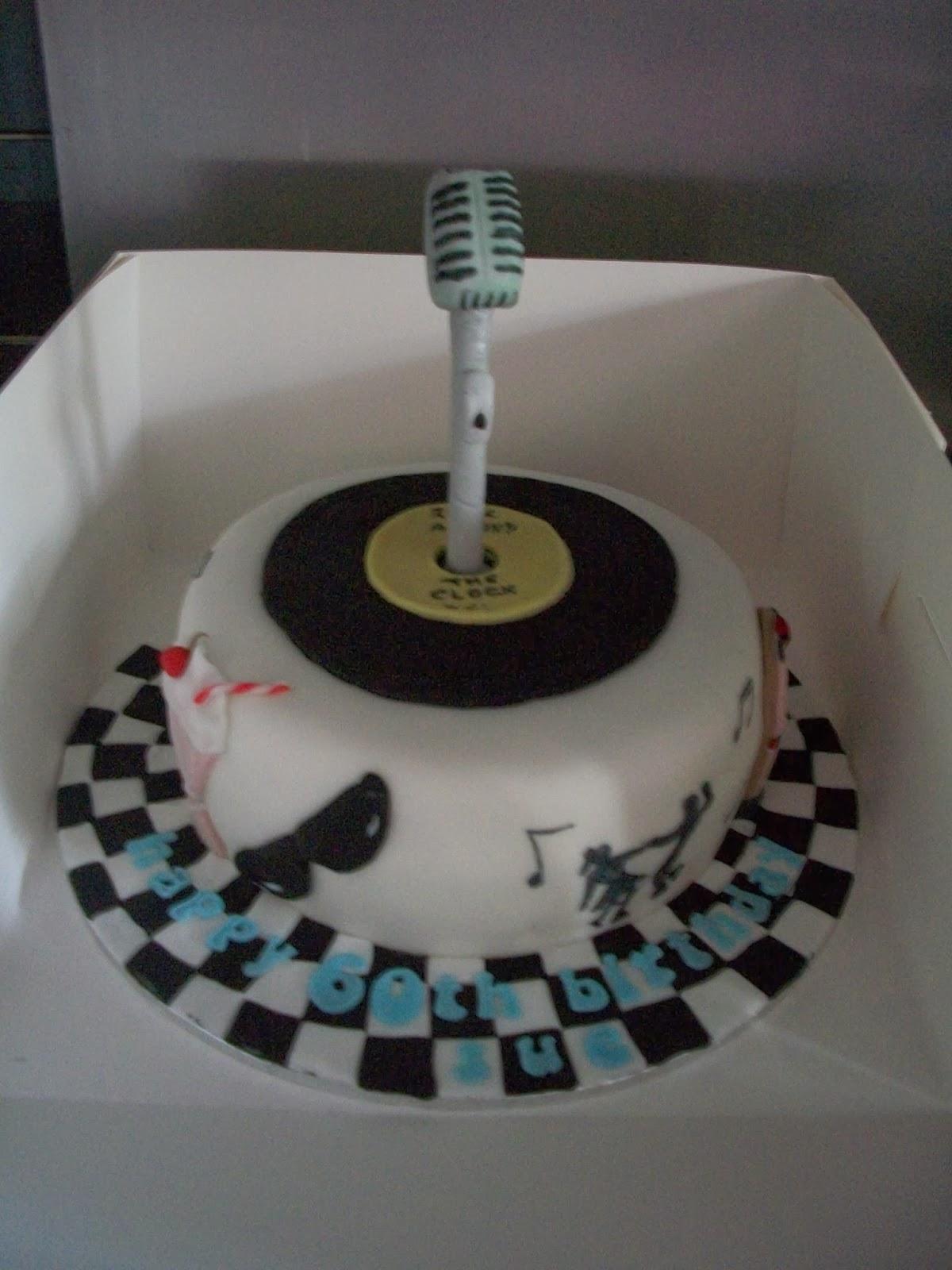 This Birthday Cake Was Rockin Rollin At Its Theme Night Jpg 1200x1600 50s