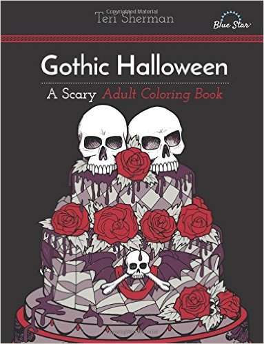 anyway here are my picks for goth coloring books - Gothic Coloring Book