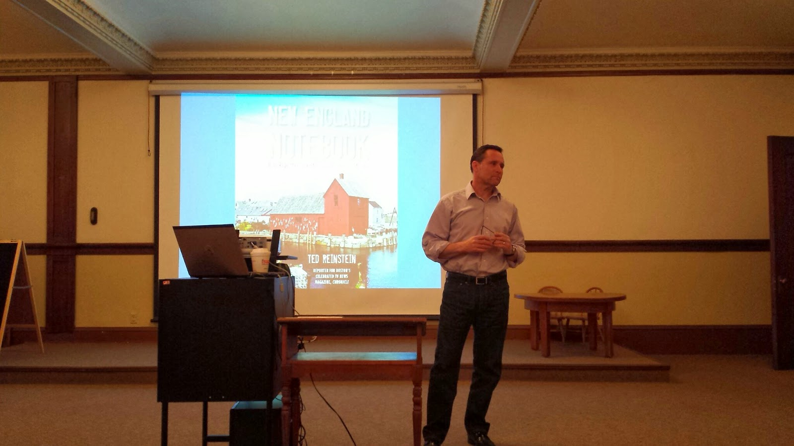 Ted Reinstein during his presentation at the Library
