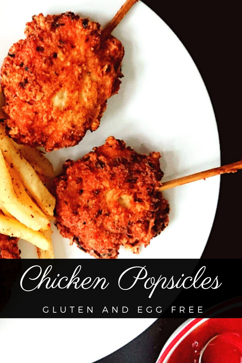 pinning image for the allergy friendly chicken popsicle recipe