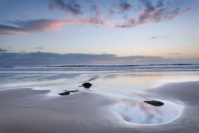Last of the sunset light at Dunraven Bay in South Wales by Martyn Ferry Photography
