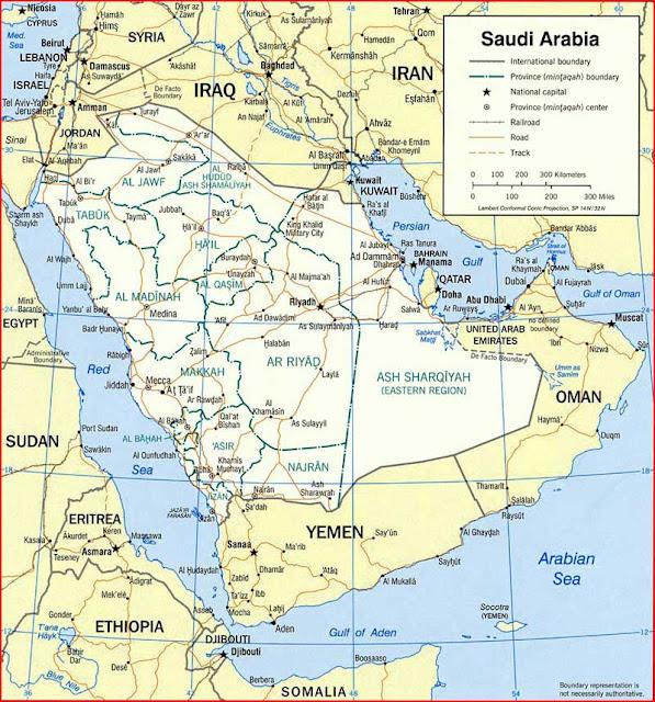 Gambar Peta politik Arab Saudi