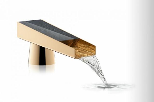 Золотой смеситель - водопад