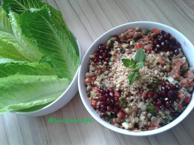 salata,kinoa,yesil mercimek,diyet tariflar,saglikli beslenme
