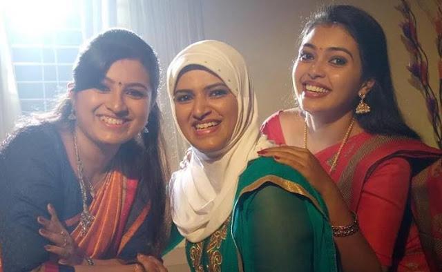 Bharya Serial actresses-Souparnika Subhash, Lintu Rony and Mridula Vijay