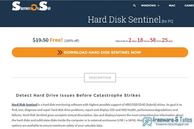 Offre promotionnelle : Hard Disk Sentinel gratuit (pendant 3 jours) !