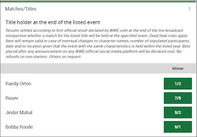 WWE US Championship Betting Odds For WrestleMania 34