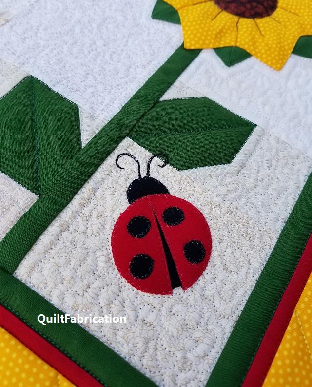 Sunflower runner ladybug