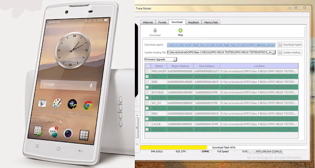 Flash Oppo Neo 3 R831K Dengan Flashtool Work 100%
