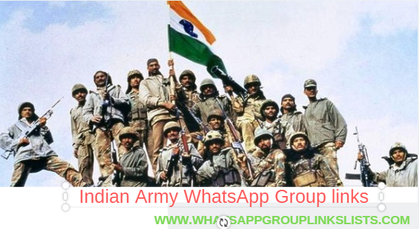 Join Indian Army WhatsApp Group Links List