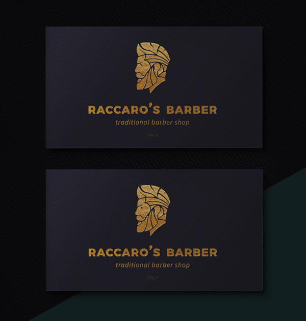 Inspirasi Desain Branding Identity - Raccaro's Barber Visual Identity