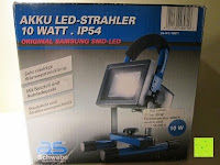 Verpackung: as - Schwabe Chip-LED-Akku-Strahler 10 W, geeignet für Außenbereich, Gewerbe, blau, 46971