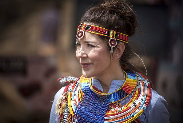 Crown Princess Mary donned traditional African dress in Kenya, she was joined by Danish Minister Ulla Toernaes