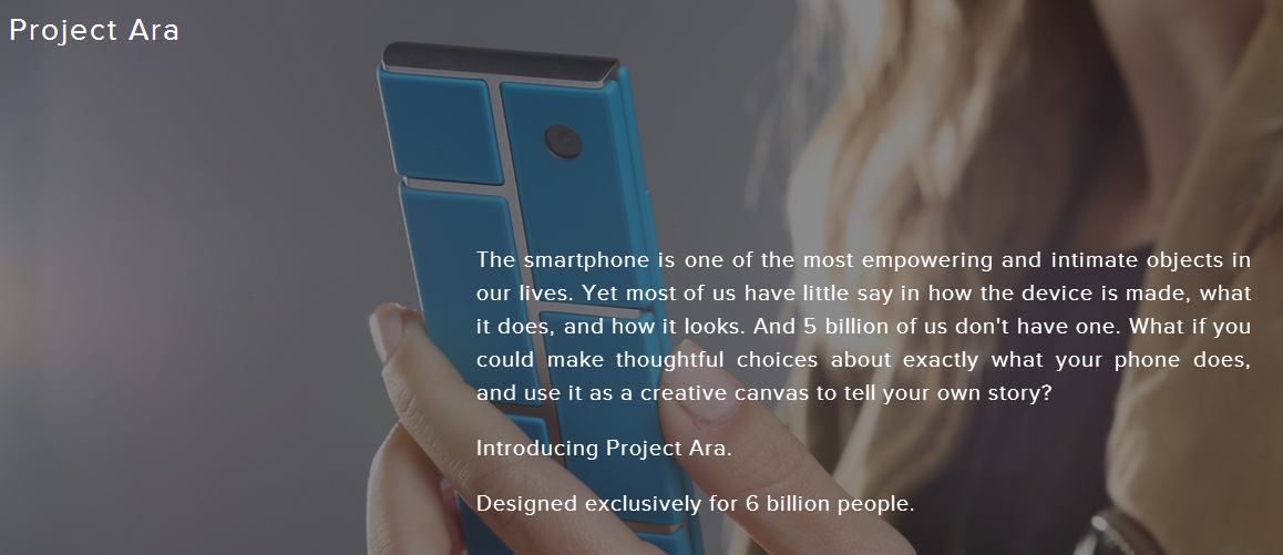 Google Introduces Project Ara For Smartphones