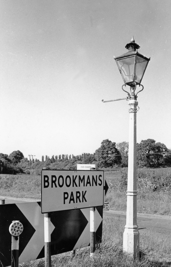 Photograph of the last working gas lamp in the area on Warrengate Road, removed 1969