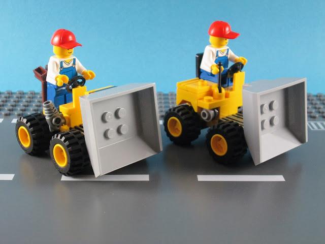 MOD e comparação com o set LEGO City 30348 Mini Dumper