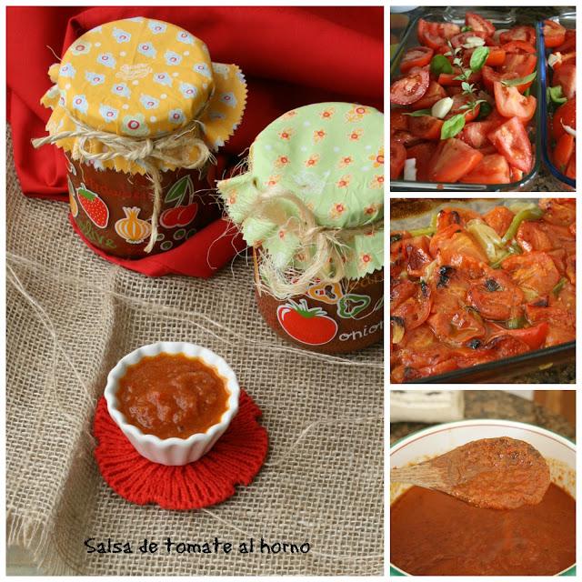 Salsa de tomate casera al horno