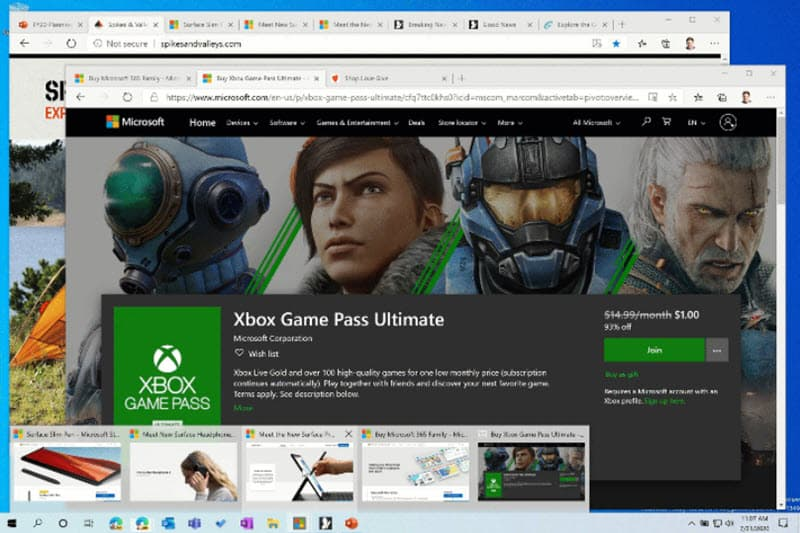 Microsoft Edge on Windows 10 gets quick access feature for tabs on pinned websites