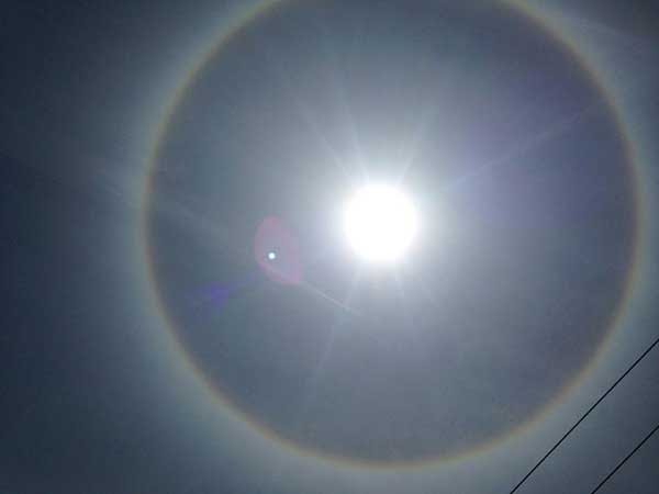 Sun halo in Uyanguren