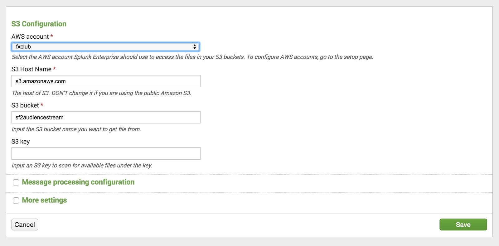 techBI: AWS S3 logs in Splunk