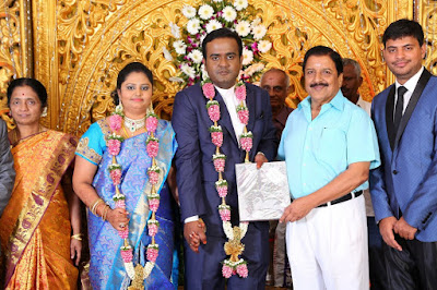 Producer-LMM-Muralidharan-Son-M.Gokul-Krishnan-Weds-S.Roopini-Marriage-Reception-
