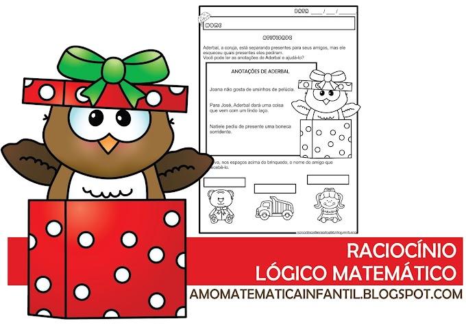 Atividade raciocínio lógico Projeto Natal