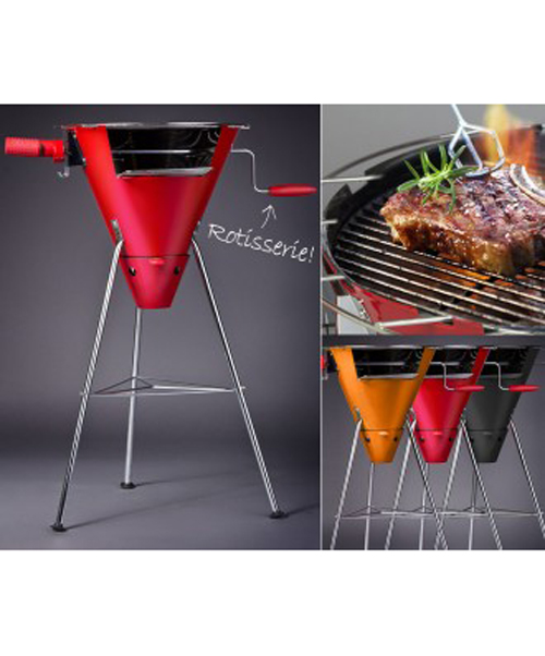 bodum 2 in 1 cone charcoal grill hook of the day. Black Bedroom Furniture Sets. Home Design Ideas