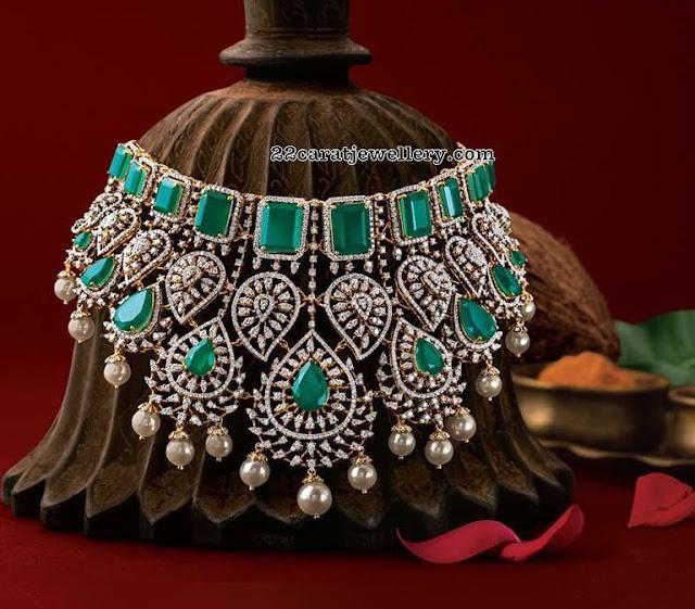 South Pearls Studded Grand Diamond Sets