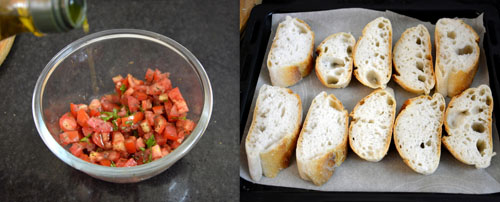 how to make bruschetta with tomato and basil