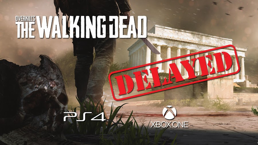 overkills walking dead consoles delayed 2019