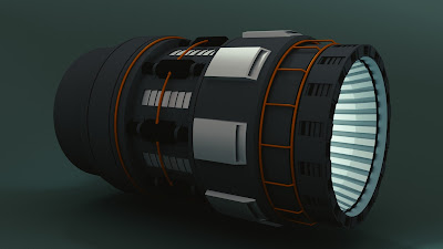 Spaceship engine model